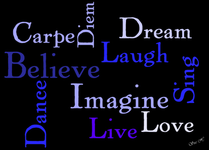 Life Words digital art wordle