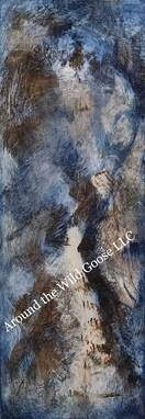 Acrylic paints abstract in shades of brown and blue