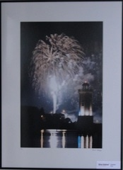Fireworks over Lighthouse Lakeside Park Photo